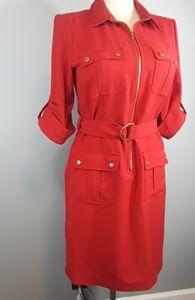 SHARAGANO RED DRESS SZ. 10